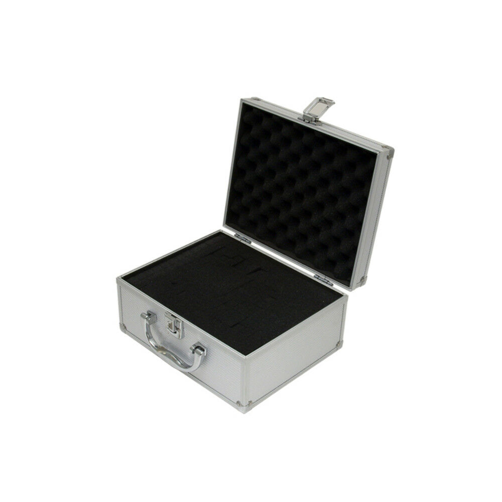 Small Aluminium Flight Case Box Silver Camera Foam Tool