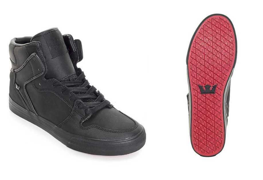Details about NEW MEN S 12 14 SUPRA VAIDER BLACK   BLACK RED CARPET EDITION  SKATE SHOES S28192 0e6ff2d89