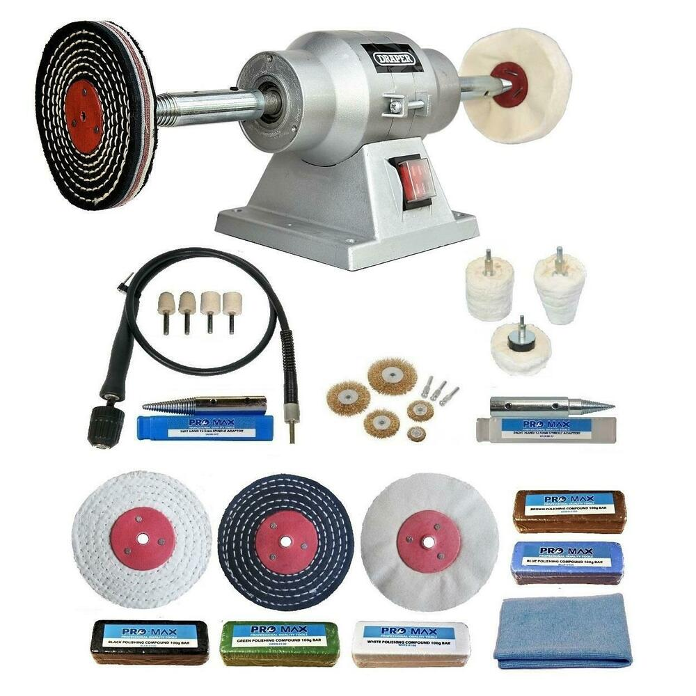 6 Quot Bench Grinder 150w Bench Polisher With 4 Quot Deluxe Metal