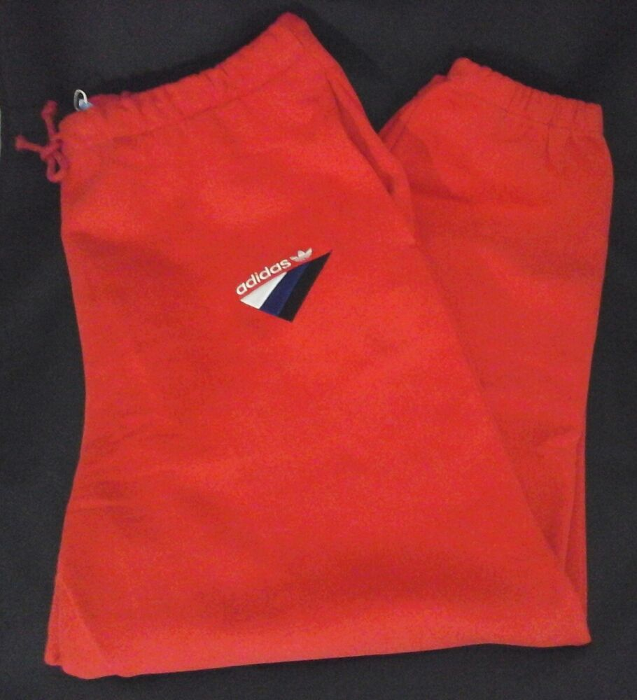f8ee4348aa ADIDAS Anichkov Sweatpants Modern Joggers Trefoil Red Embroidered BS2221  Mens XL 191021991573