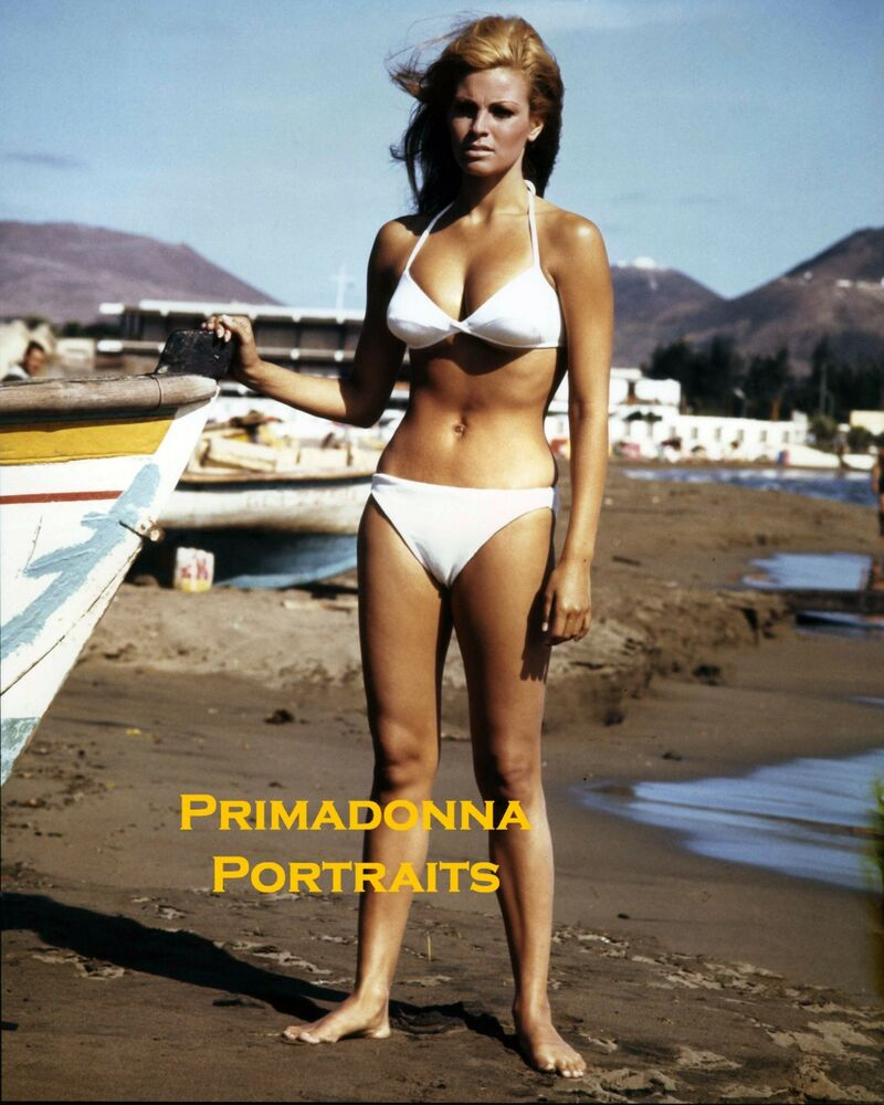 Details about RAQUEL WELCH 8X10 LAB COLOR Photo SEXY BIKINI Swimsuit DARING  POSE Slender LEGS