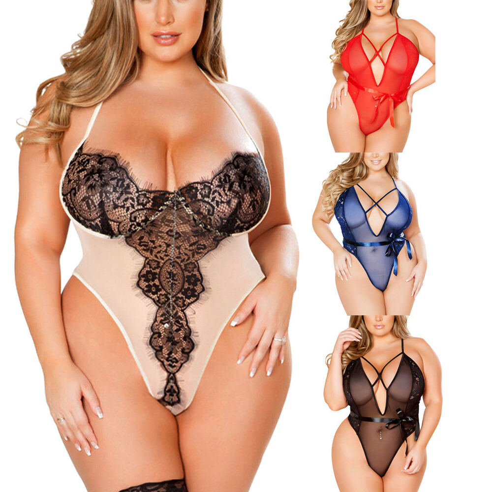 a16f8b0ba1 Details about Women Lady Plus Size Lingerie Corset Lace Underwear Pajamas  Sleepwear Nightwear