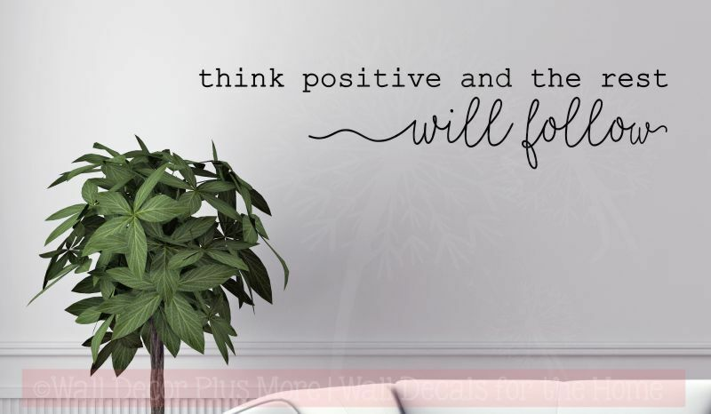 Think Positive Motivational Wall Quotes Vinyl Lettering Decals Daycare Classroom Ebay