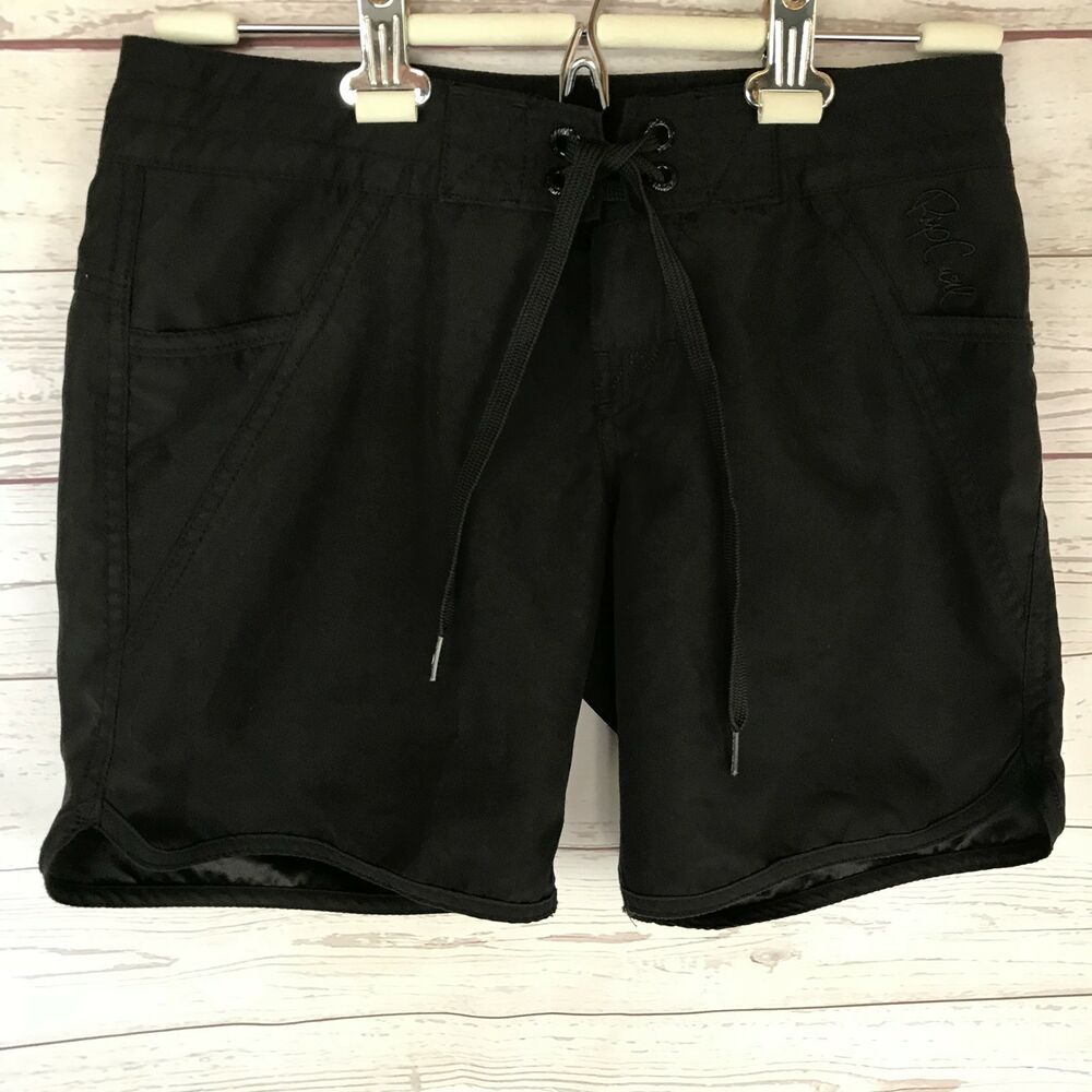 3a2a223262d Details about Womens RIP CURL Black Swimming Board Shorts Surf Beach Swim  Size 1