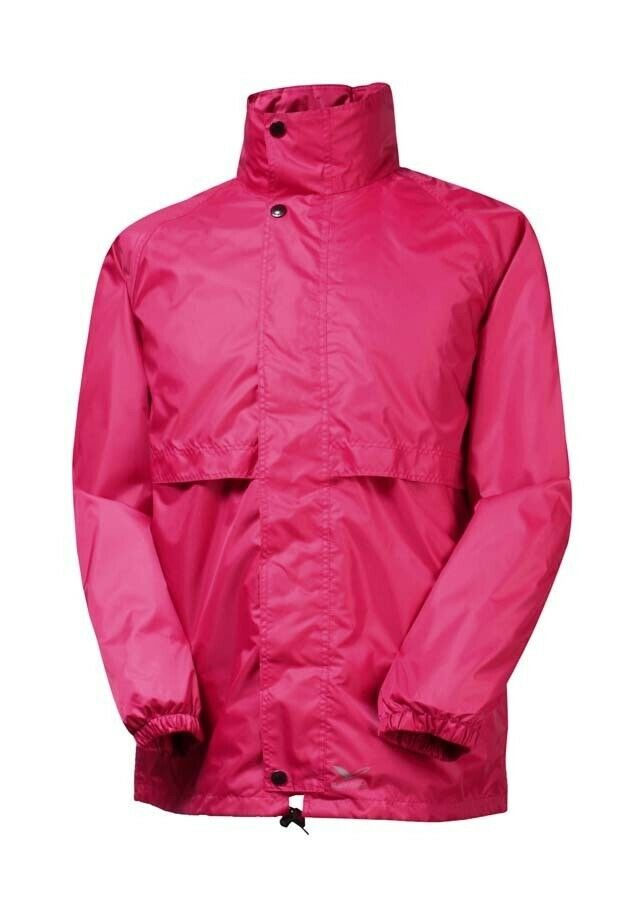 8b53d4df4 Rainbird Stowaway Unisex Waterproof Jacket - Rasberry