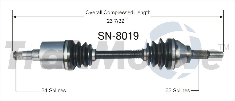 Front Left Axle Assembly For 2003-2007 Saturn Ion 2.2L 4 ...