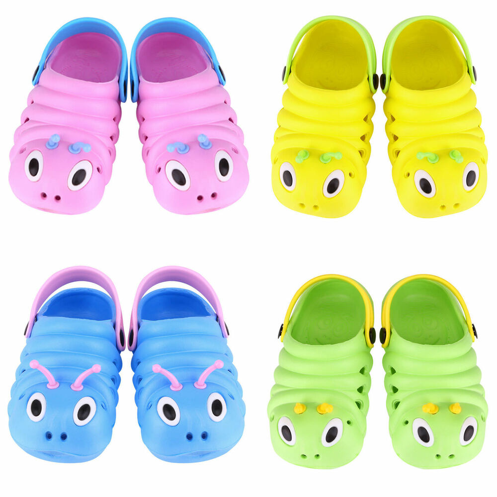 bf1312d4b28 Details about Kids Baby Boys Girls Summer Sandals Slippers Beach Clogs  Pumps Caterpillar Shoes