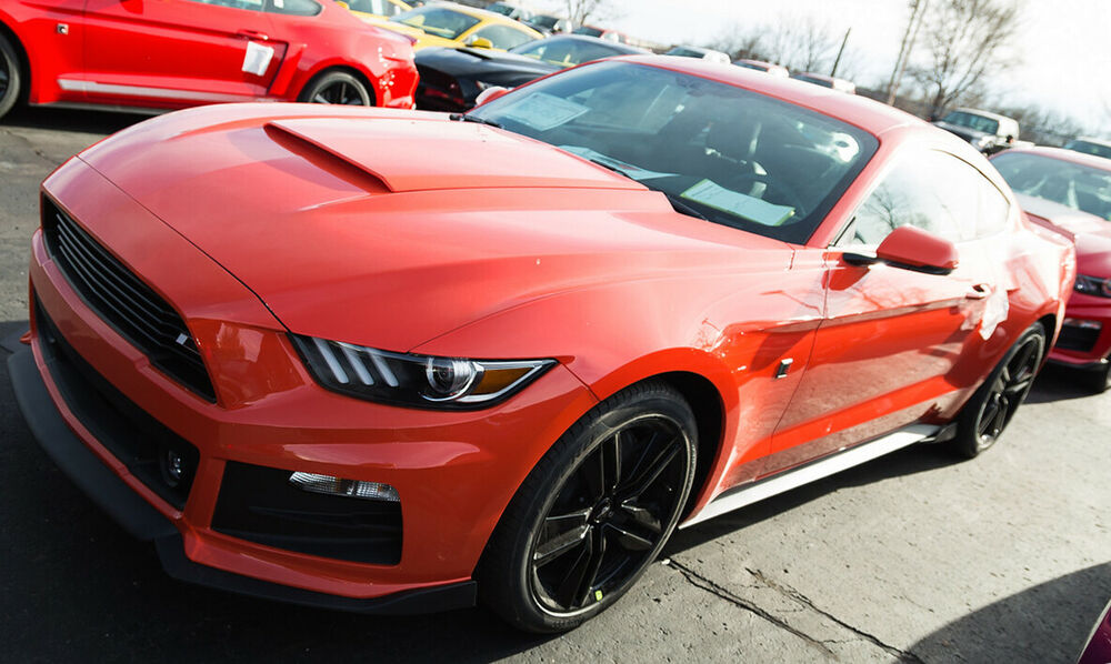 Details About 2017 Ford Mustang Roush Abs Painted Hood Scoop Compeion Orange Cy 421859