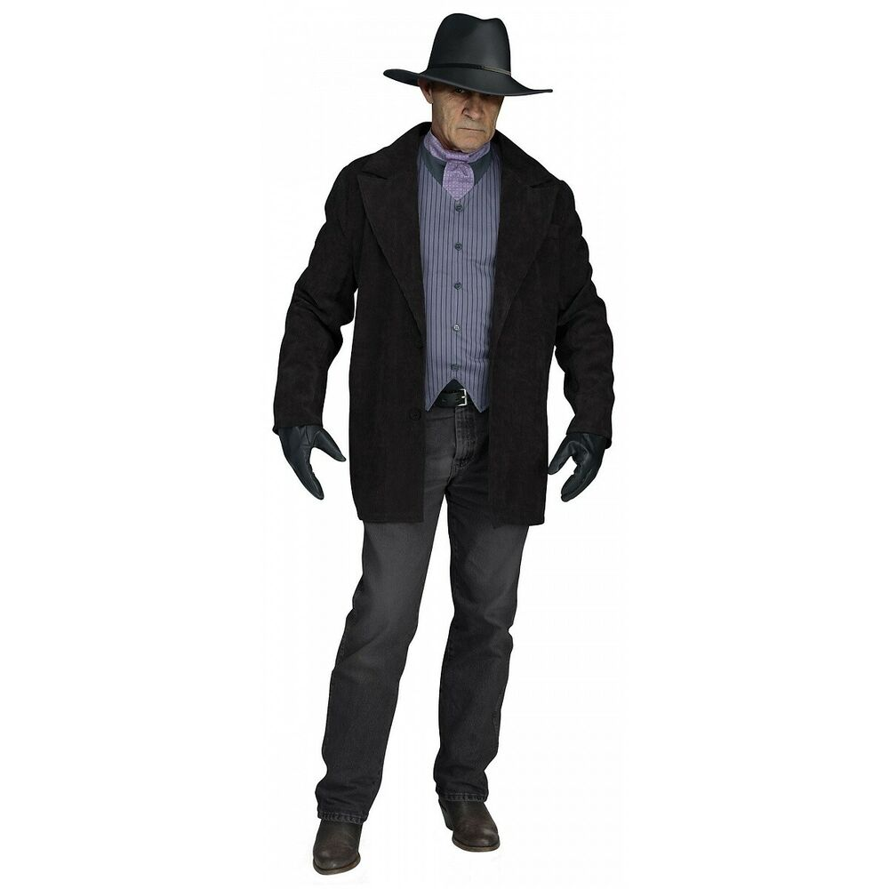 Perfect Details About Cowboy Costume Adult Wild West Halloween Fancy Dress