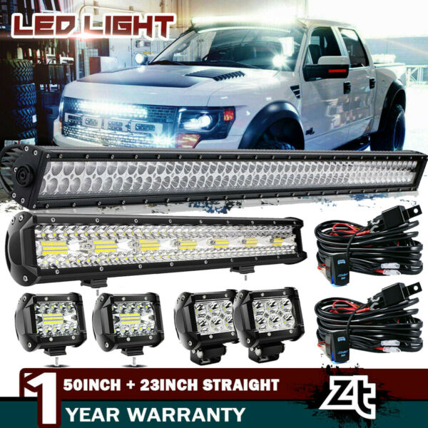 50Inch Curved LED Light Bar+22 inch+4