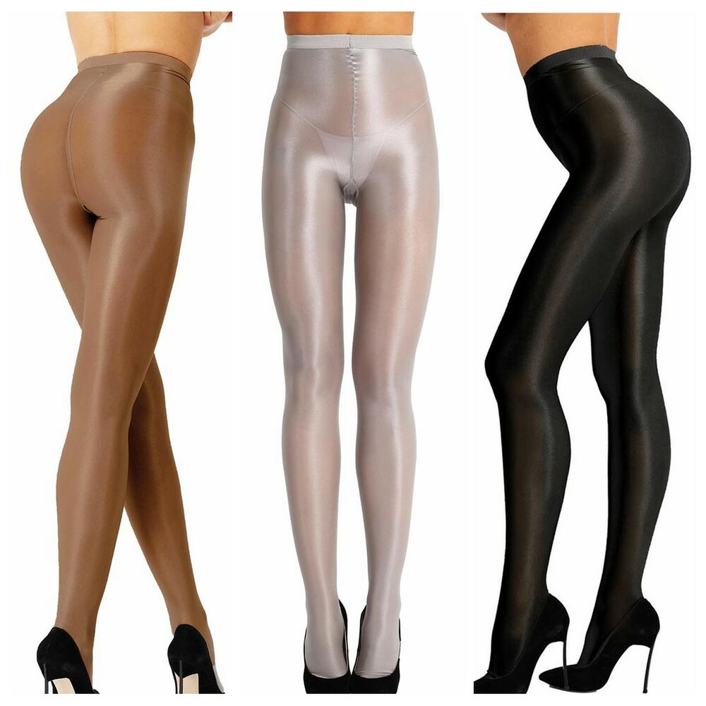314a1a7fa91 Details about Sexy 70D Womens Sheer Shiny Oil Ultra Shimmer Tights Footed Stockings  Pantyhose