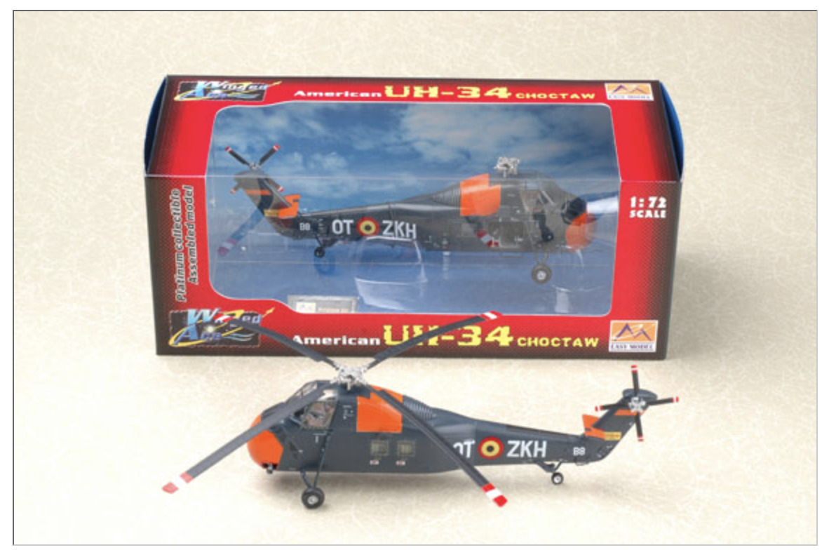 Easy Model 37011 Helicopter H34 Choctaw Belgium Air Force