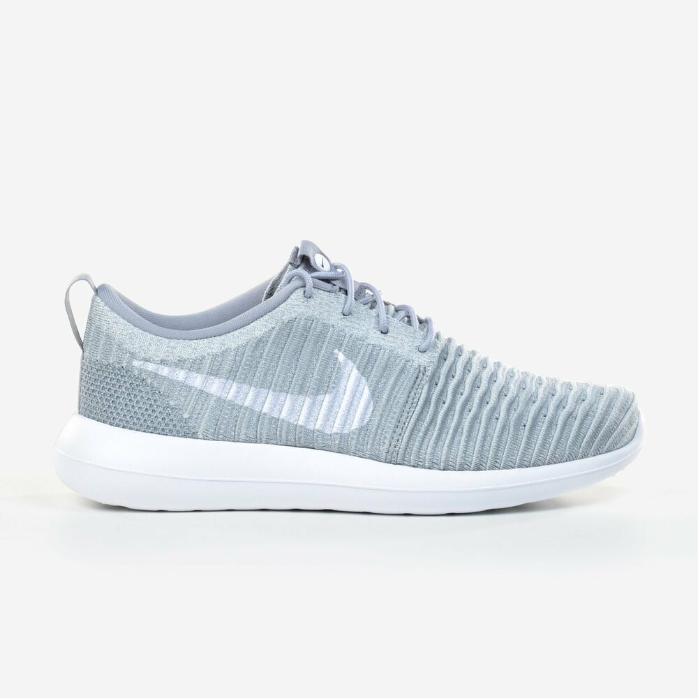 big sale 4be88 6f2c4 Details about Nike Roshe Two 2 Flyknit Wolf Grey White Men s Running  Training Shoe 844833-008