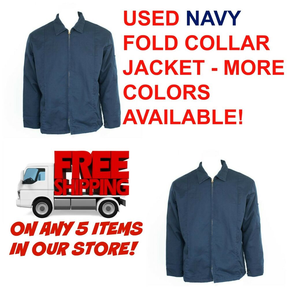 Used Work Coats Used Work Jackets Cintas, Redkap, Unifirst, G&K Navy Blue |  eBay