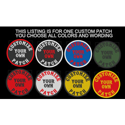 CUSTOM EMBROIDERED 3'' ROUND EMBROIDERY PATCH MOTORCYCLE BIKER VEST MADE IN USA