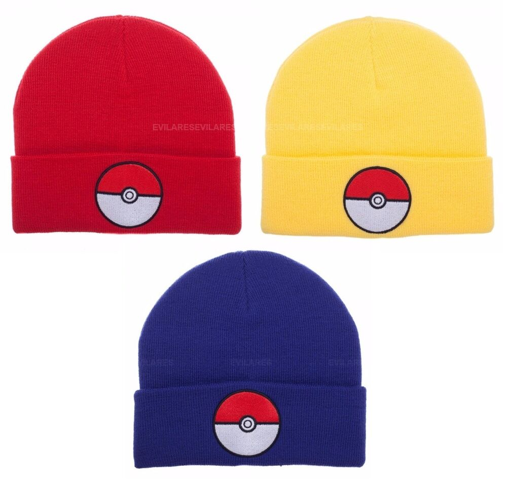 Details about Pokemon Go Pokeball Beanie Hat Cap - Choose Your Team Color  Red Yellow Blue 224f7fd34a11