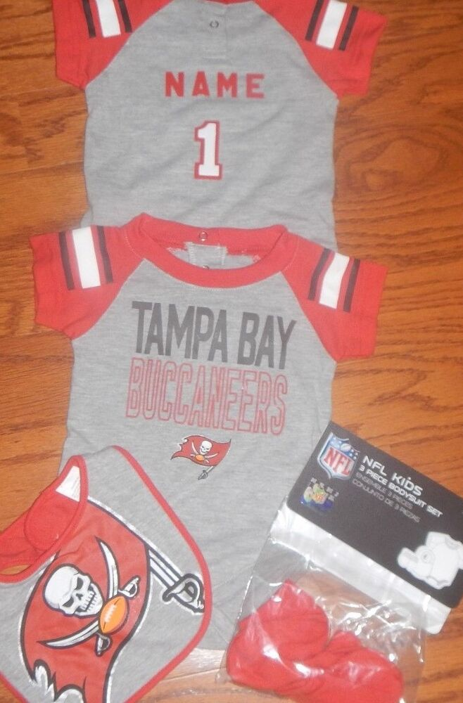 buy popular bf389 4520f Tampa Bay Buccaneers Infant NFL Jersey Bib & Bootie Set add ...