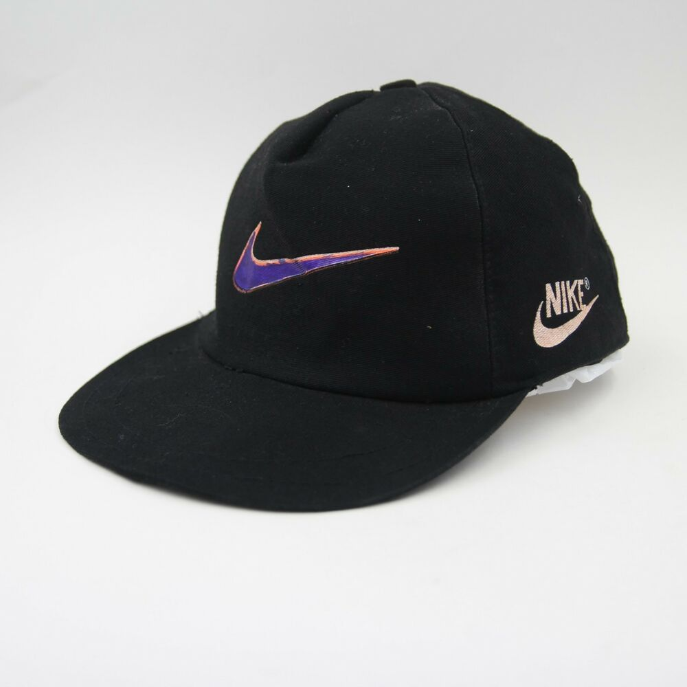 b0584d7b334 Details about Vintage 90s Nike Neon Printed Swoosh Dad Baseball Cap Hat  2404 RARE