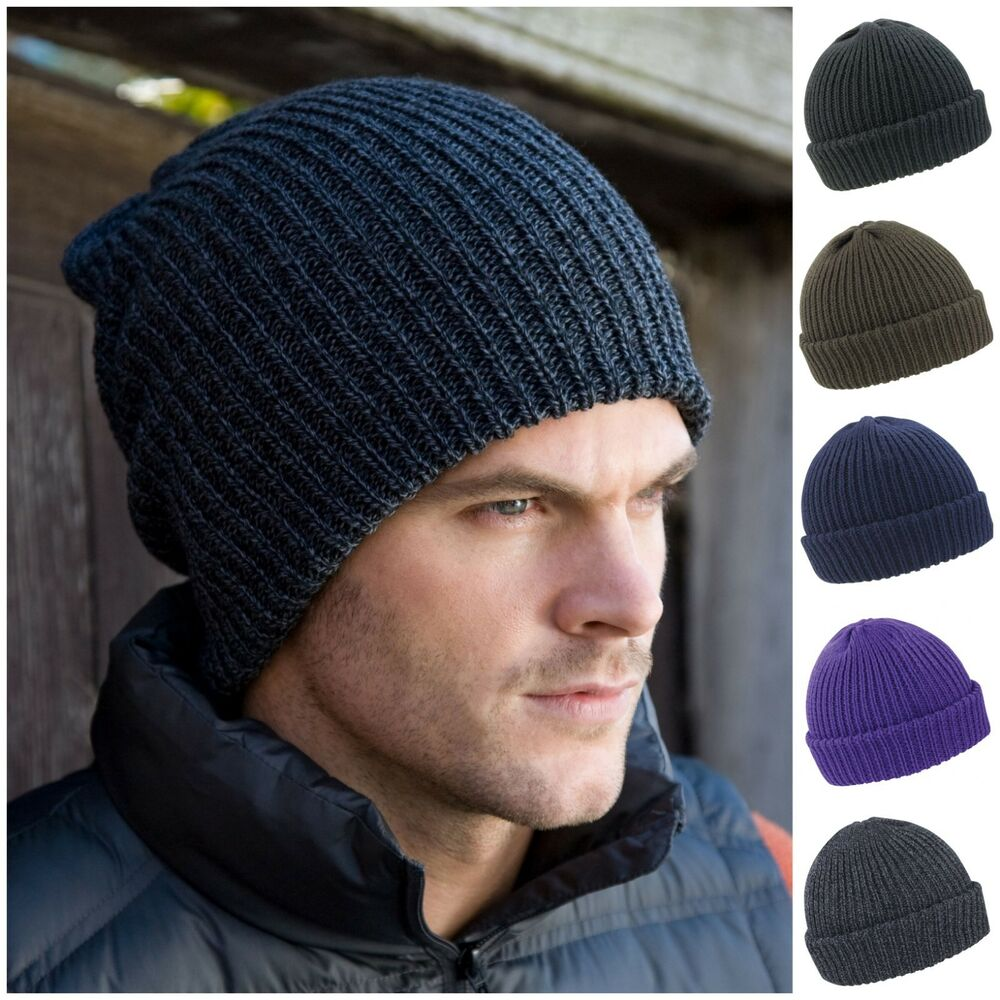 Details about Beanie Hat Ribbed Knit Skater Ski Wooly Winter Warm Fisherman  Mens Womens Ladies 30505d952fd