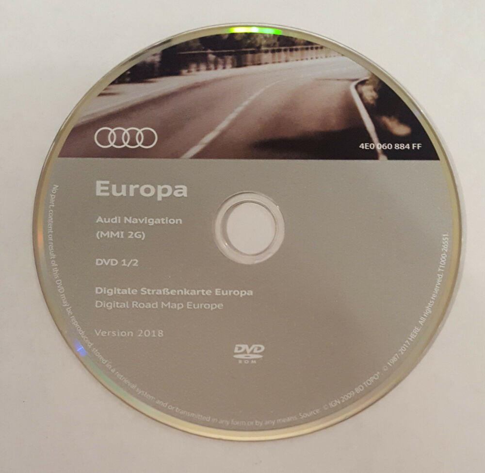2018 audi mmi 2g high sat nav dvd disc map navigation update uk europe ebay. Black Bedroom Furniture Sets. Home Design Ideas