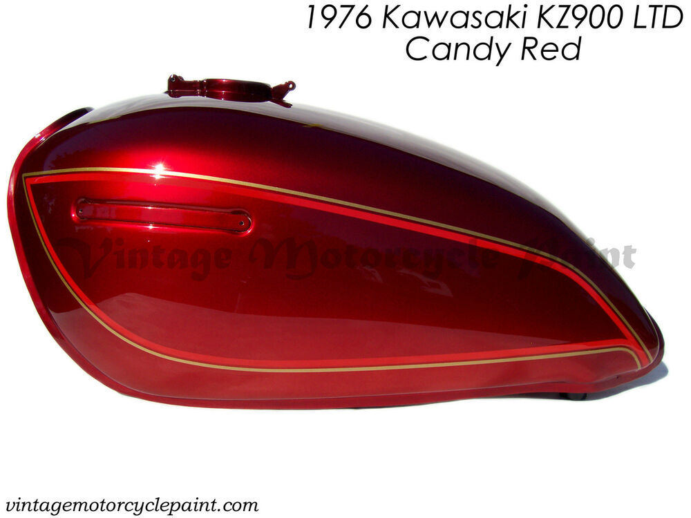 Kawasaki Paint 1976 Kz900 Ltd 900 Candy Red Restoration Best Color Ebay