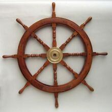 SHIP WHEEL WOODEN 36