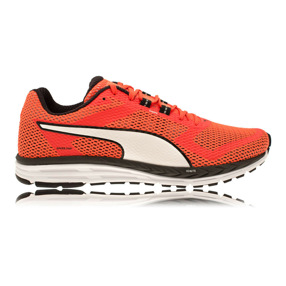 4c8e4c2ac31b Details about Puma Speed 500 Ignite Mens Red Black Sneakers Running Road  Shoes Trainers