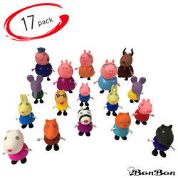 17Pcs Peppa Pig Family&Friends Emily Rebecca Suzy Kids Action Figures Toy Gift