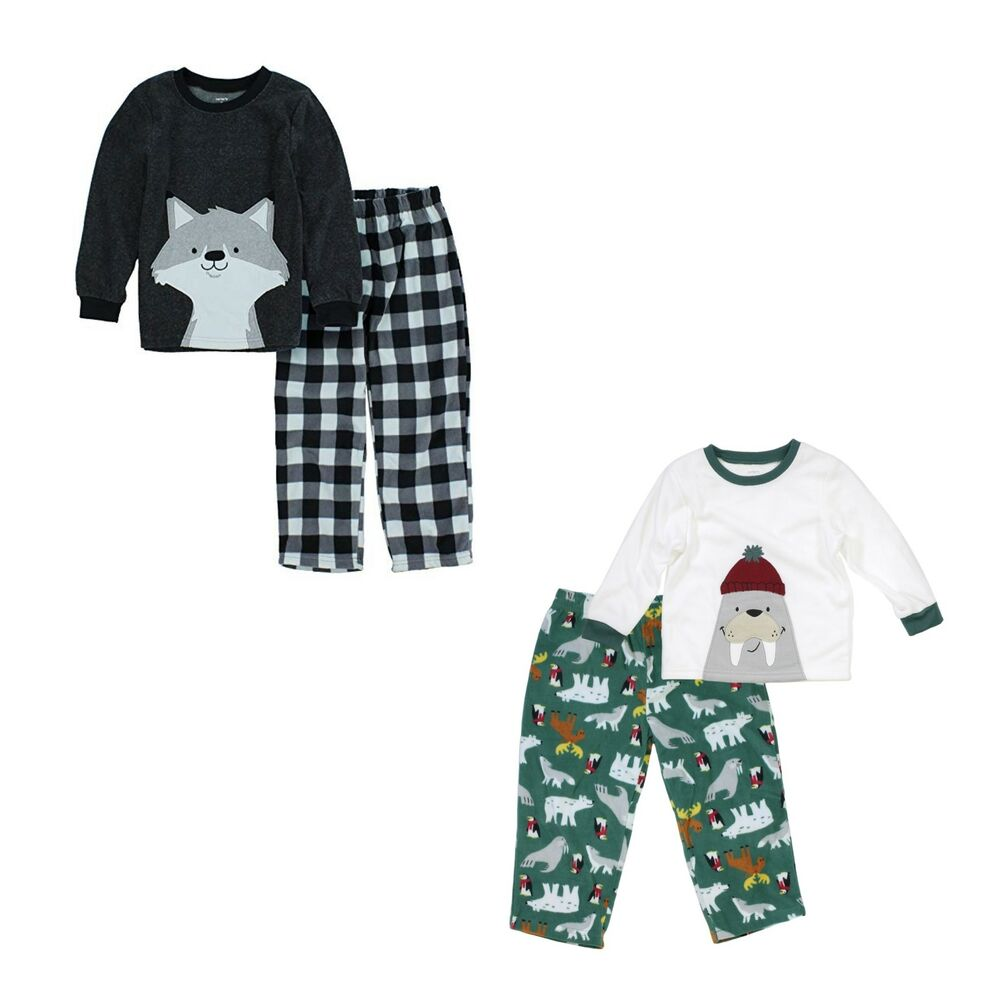 8edb66d2b Carter s 2 Piece Long Sleeve Fleece Pajamas for Boys - Fox and Seal ...