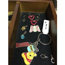 Disney Mouse,  Pooh Cinderella Dumbo Charms, Necklaces, Ring, Earrings Lot C Pic