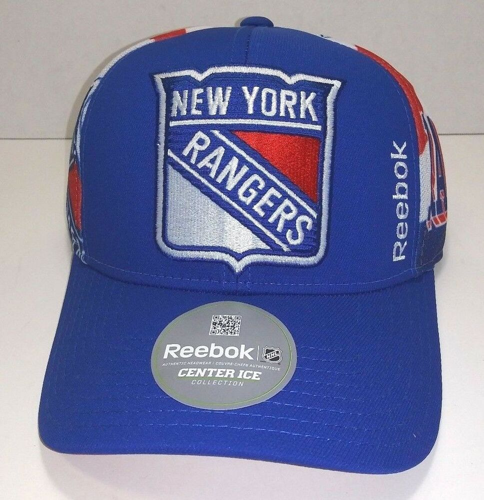 Details about Reebok NHL Center Ice Hockey Collection New York Rangers  Snapback Hat New 2ab20848e10