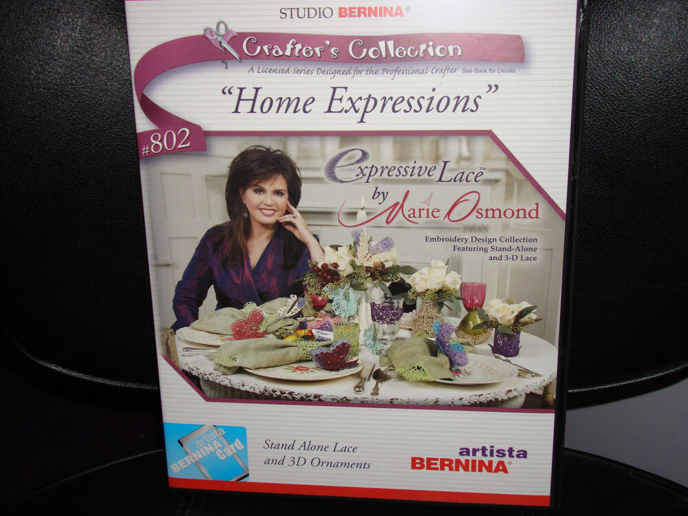 Oesd Embroidery Artista Bernina Card Expressive Lace Marie Osmond