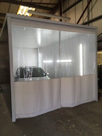 Industrial Paint Booth Curtain Amp Pvc Curtain Track System