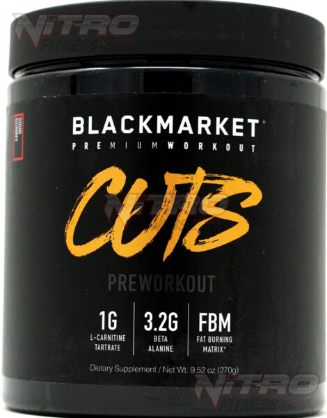 BlackMarket Labs Adrenolyn CUTS Pre Workout (30 Srv) FREE SHIPPING Black Market