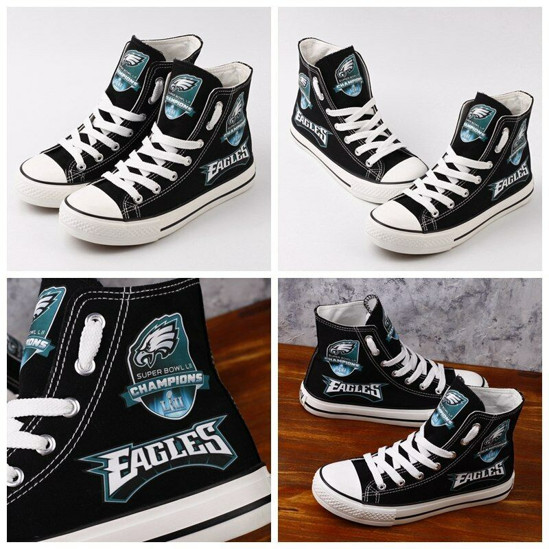 f6b492e3374 Details about Philadelphia EAGLES Women's Men's High Top Sneakers Shoes NFL  SPECIAL EDITION