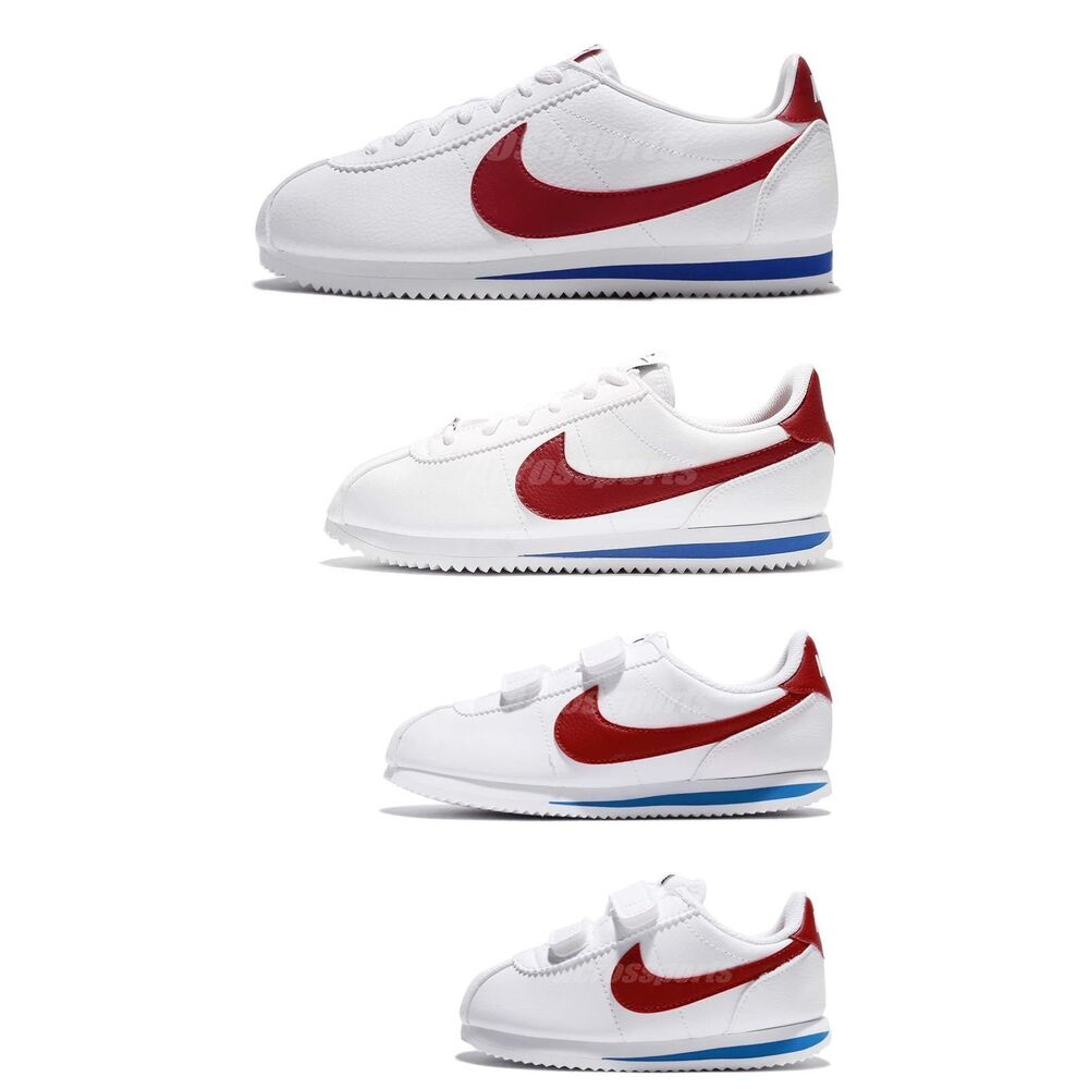 5c4b0988ec08 Details about Nike Classic Cortez Leather OG Family Size White Red Blue  Lifestyle Shoes Pick 1