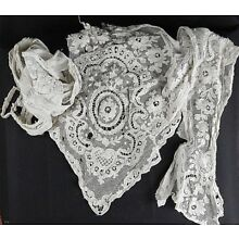 Late 1800's White Cotton Lace - Removed From Clothing - Beautiful Lace