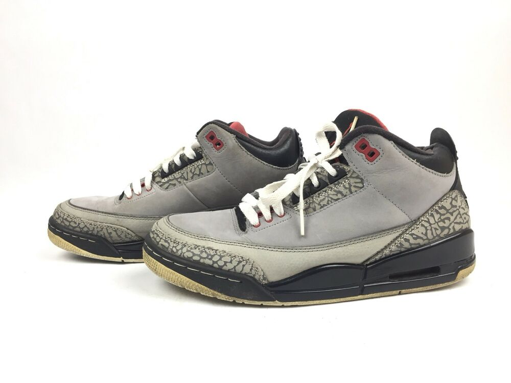 the best attitude 44da6 d426a Details about Air Jordan 3 III Retro Stealth Graphite Black Red Shoes  136064-003 Size 7.5
