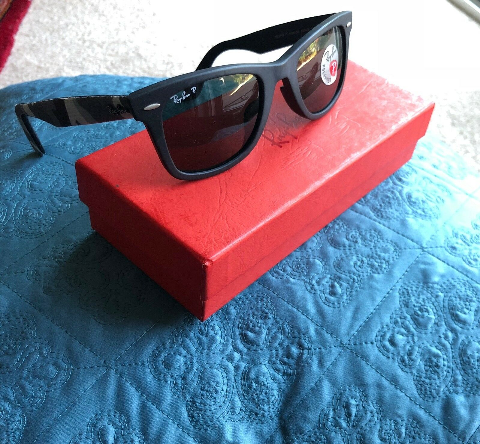 8cd35bba34ae6 EAN 8053672174618 product image for Ray-ban Polarized Wayfarer Rb2140f  115658 52mm Black   Gray ...