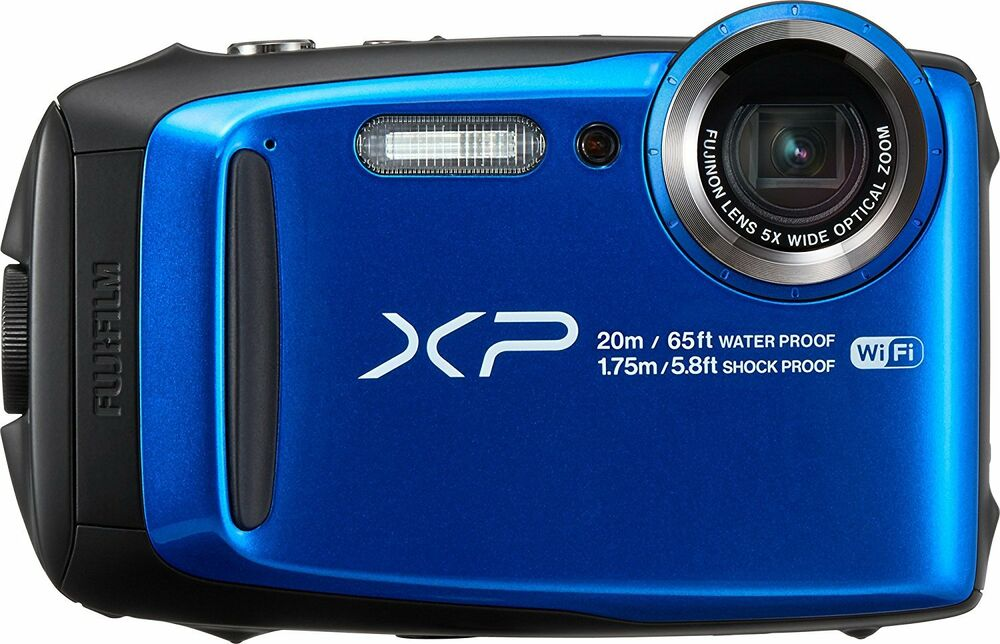 Fuji finepix xp120 waterproof digital camera blue ebay