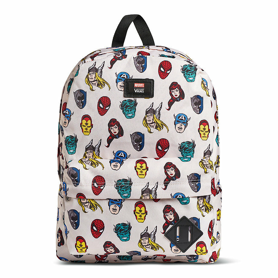 c8a7d5a08f5 Details about VANS x MARVEL HEADS Old Skool 2 Backpack (NEW) Avengers SCHOOL  BAG Free Shipping