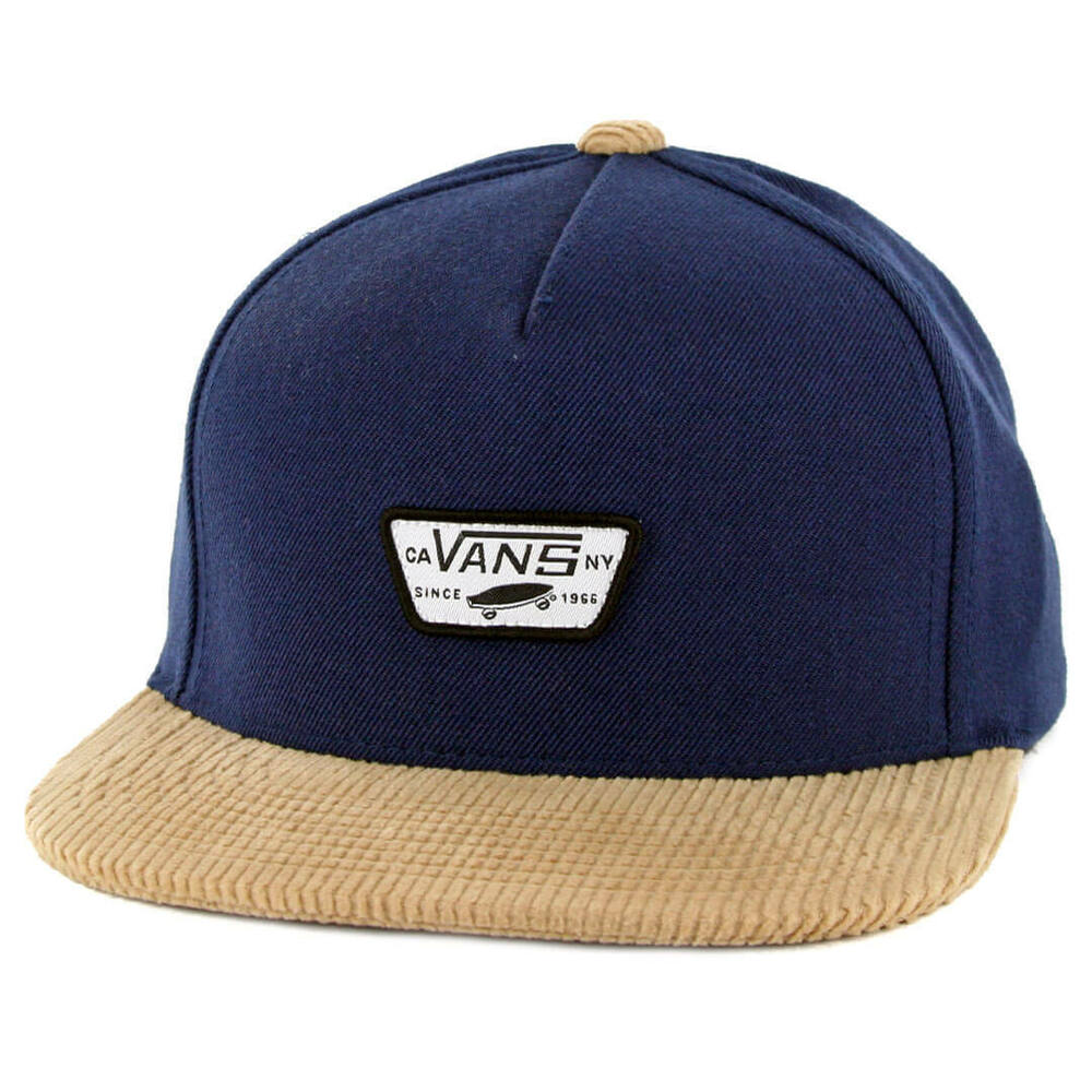 6462e0d1 Details about Vans - MINI FULL PATCH Mens Hat (NEW) Snapback Cap NAVY BLUE  KHAKI Free Shipping