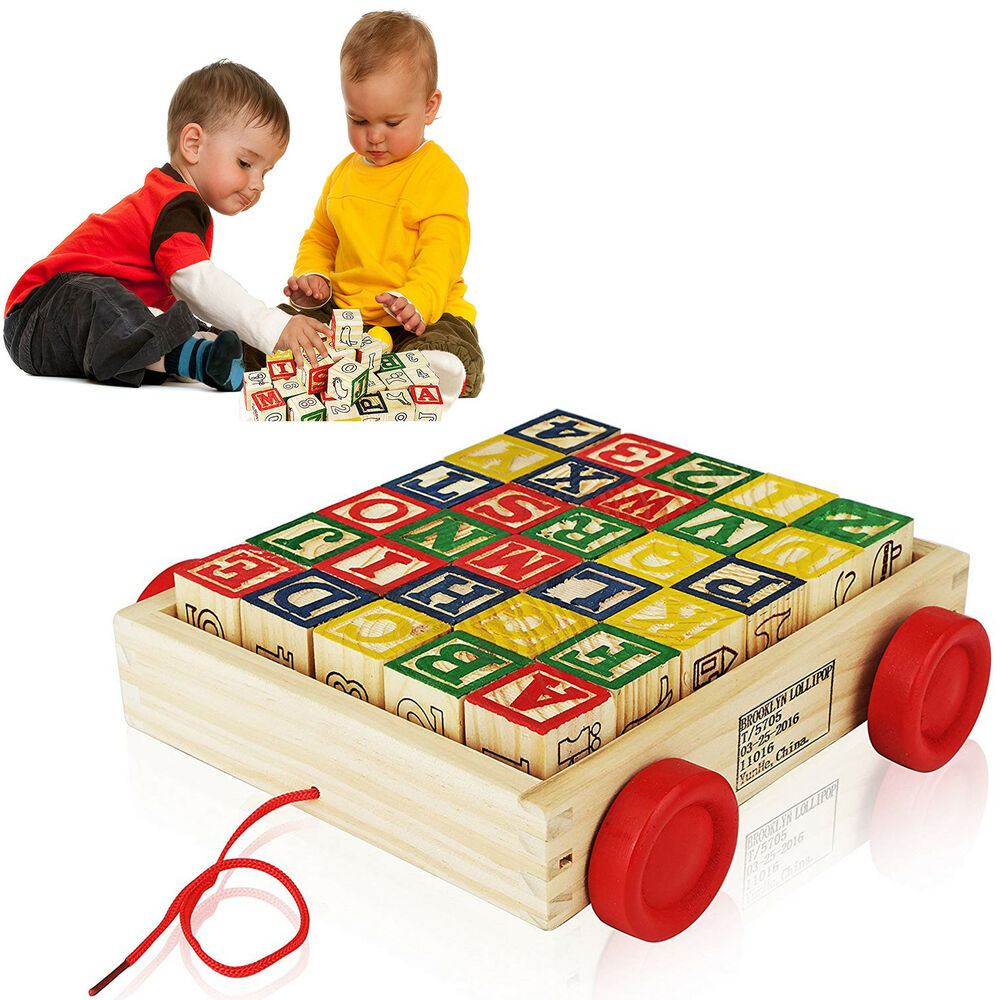 Details about Educational Wooden Alphabet Blocks Toys For 2 Year Old Toddlers Baby Activity
