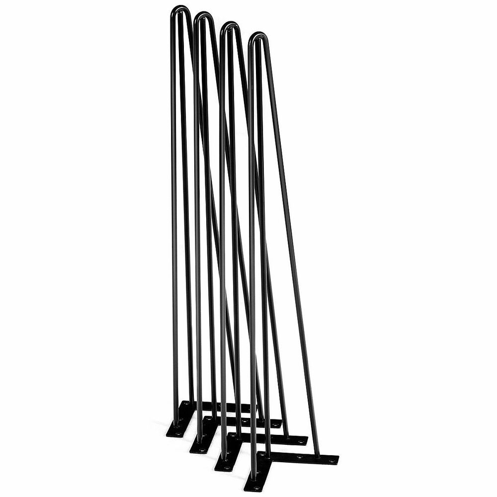 Set Of 4 Hairpin 28 Quot Coffee Table Legs 3 Rod Solid Iron