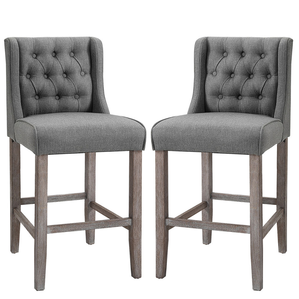 40 Quot Tufted Counter Height Bar Stool Dining Chair Accent