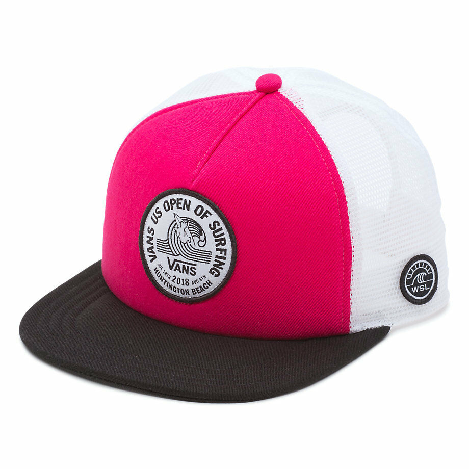 3509f1a84e4 Details about Vans 2018 US OPEN of SURFING Hat (NEW) VUSO LOCK UP BEACH  GIRL Snapback Trucker