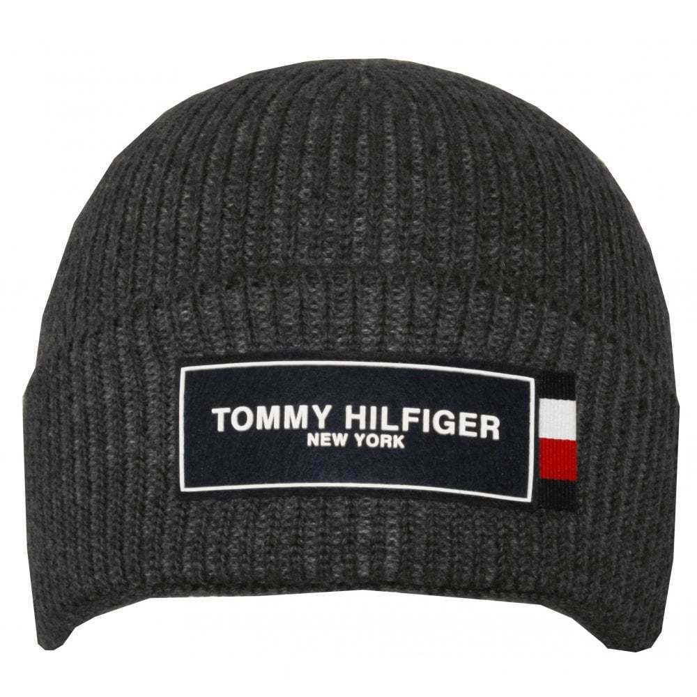 Details about Tommy Hilfiger Tommy Patch Beanie Hat 9250ce7819f
