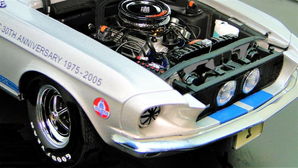 Details about Mustang 1967 Lane Exact Detail Ford Race Car 1 GT 18 24  Vintage 40 Racing 12