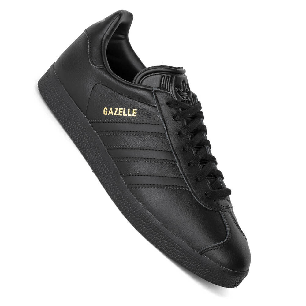 lowest price 8db10 c1889 Details about Adidas Gazelle Core Black - Unisex Sneaker in all Black Look  BB5497