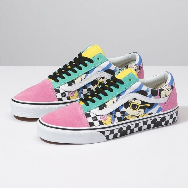 069442fc25 Details about Vans x Disney 80 s Mickey   Minnie Old Skool Pink Shoes  Sneakers - VN0A38G1UJE1